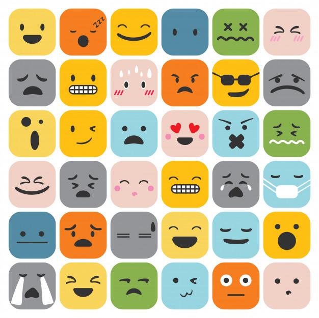 7-Motivos para você cuidar da sua saúde mental emoji emoticons definir colecao de sentimentos de expressao de rosto