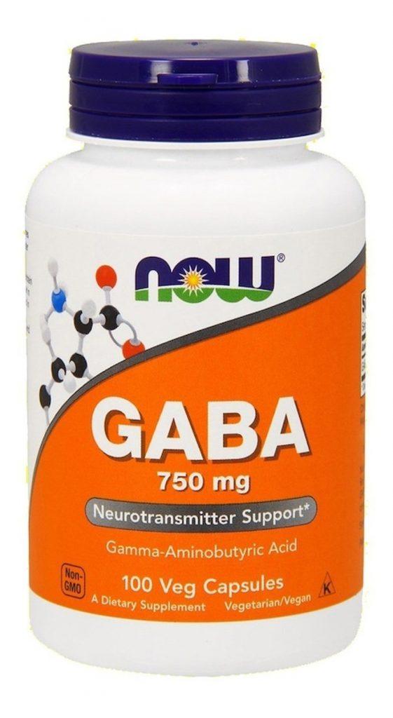gaba 750mg 100 capsulas now foods eua acido gama aminobutirico Copia
