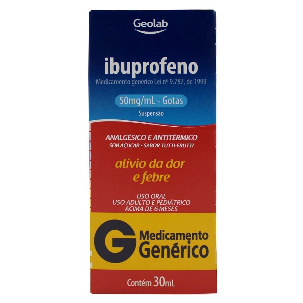 ibuprofeno 50mg suspensao gotas 30ml generico geolab e60